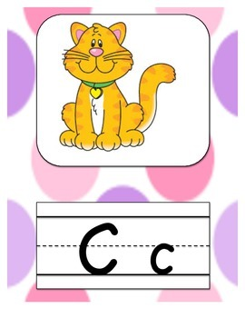 Alphabet Letters Purple Polka Dot Decor