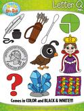 Alphabet Letters Q Clipart {Zip-A-Dee-Doo-Dah Designs}
