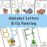 Alphabet Letters Q-Tip Painting Worksheets