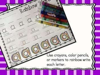Alphabet Letters - Rainbow Writing