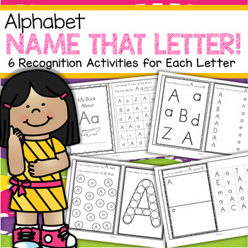 Alphabet Booklets - 6 Hands-on Recognition Activities for Each Letter