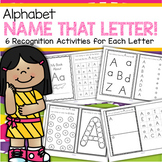 Alphabet Booklets - 6 Hands-on Recognition Activities for