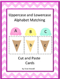 Alphabet Letter Matching Uppercase and Lowercase, Ice Cream Activities