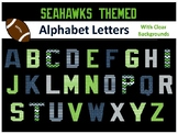 Alphabet Letters - Seahawk Themed