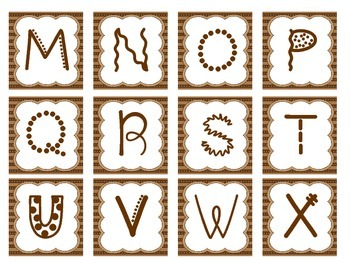 Alphabet Letters - Small Brown
