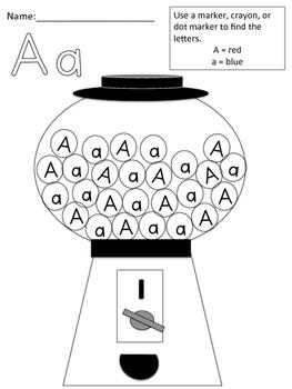 Alphabet Letters: Spot It Dot It