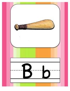 Alphabet Letters Stripe Decor
