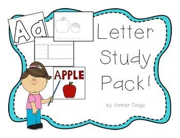 Alphabet Letters Study Pack