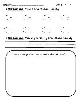 Alphabet Letters - Trace, Write, Draw