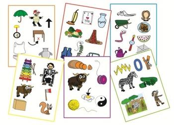 Alphabet Clip Art - Letters U-Z