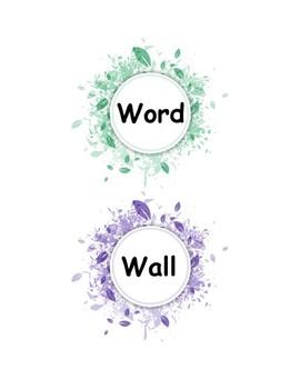 Alphabet Letters | Word Wall | Bulletin Board ABCs