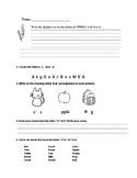 Alphabet Letters Worksheet A