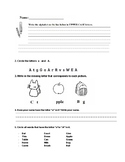 Alphabet Letters Worksheet A