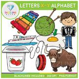 Alphabet Letters X-Y Clip Art - Beginning Sounds