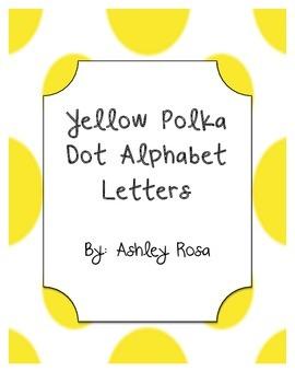 Alphabet Letters Yellow Polka Dot Decor