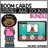 Alphabet Letters and Alphabet Sounds BOOM CARDS Bundle