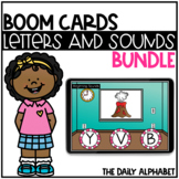 Alphabet Letters and Alphabet Sounds BOOM CARDS Bundle