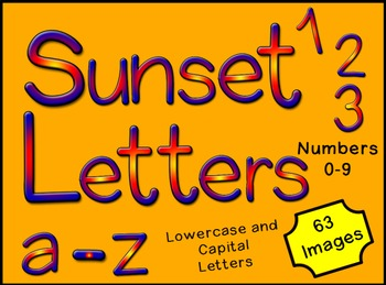 Alphabet Letters and Numbers Clip Art - Commercial Use OK!