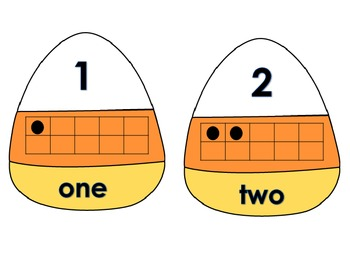 Alphabet Letters and Numbers Practice with Candy Corn Daily 5 Center Activities