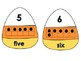 Alphabet Letters and Numbers Practice with Candy Corn Dail