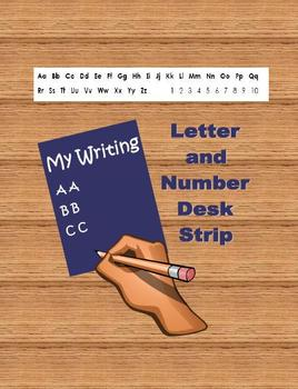 Alphabet Letters and Numbers Strip for Desk - FREEBIE