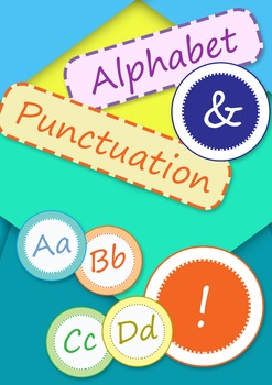 Alphabet Letters and Punctuation Cards and Banner