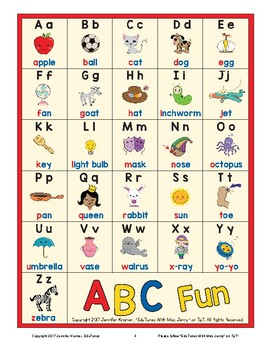 Back to School: Alphabet Letters and Sounds 200 Page Packet