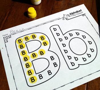 Alphabet Letters and Sounds {Alphabet Fine Motor}