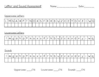 Alphabet Letter and Sound Assessment
