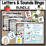Alphabet Letters and Sounds Bingo Bundle l Apples and Wint
