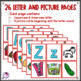 Alphabet Letters and Sounds Picture Cards and Activities