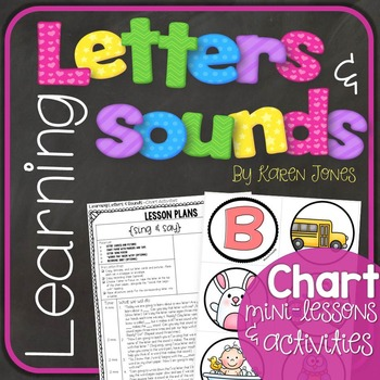 Alphabet Letters and Sounds {Chart Mini-Lessons and Activities}