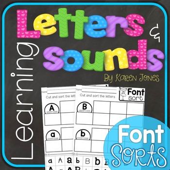 Alphabet Letters and Sounds {Font Sorts}