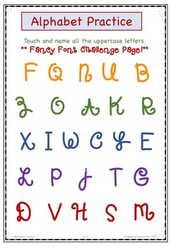 Alphabet Letters and Sounds Practice Pages
