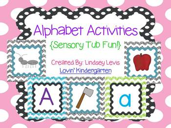 Alphabet {Letters and Sounds} Sensory Tub Activities