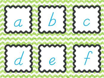Alphabet {Letters and Sounds} Sensory Tub Activities in D'Nealian