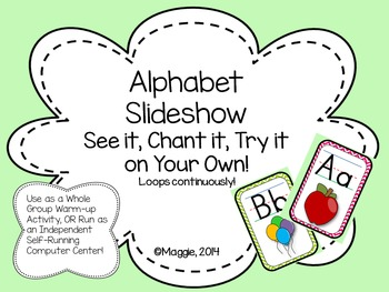 Alphabet Letters and Sounds Slideshow Center