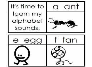 Alphabet  Letters and Sounds Song (printable)
