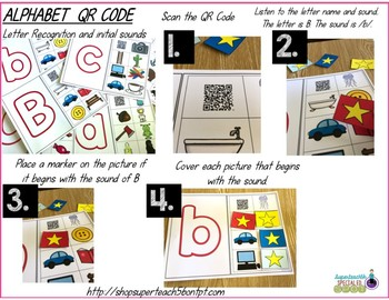 Alphabet Letters and Sounds with QR Codes (Special Education & Autism)