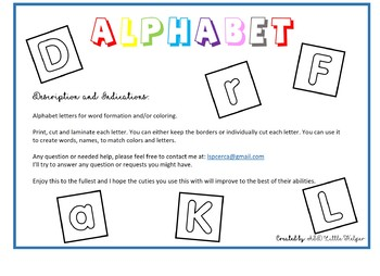 Alphabet Letters - capital and lower case