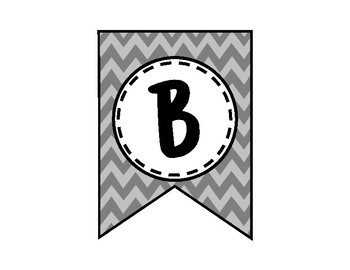 Alphabet Letters for Banners: Gray Chevron