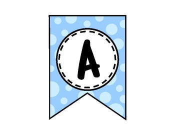 Alphabet Letters for Banners: Blue Dot