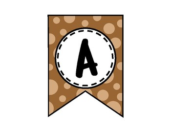 Alphabet Letters for Banners: Brown