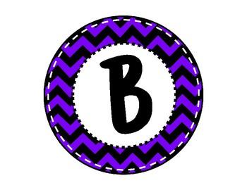Alphabet Letters for Banners: Circle Blue Chevron