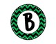 Alphabet Letters for Banners: Circle Green Chevron