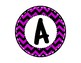 Alphabet Letters for Banners: Circle Purple Chevron