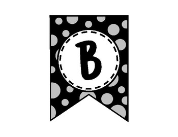 Alphabet Letters for Banners: Gray Dot