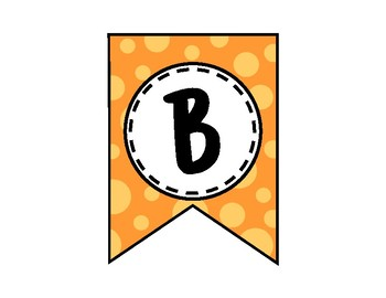 Alphabet Letters for Banners: Orange
