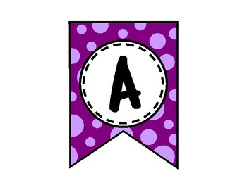 Alphabet Letters for Banners: Purple