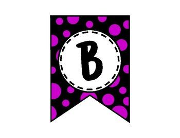 Alphabet Letters for Banners: Purple & Black